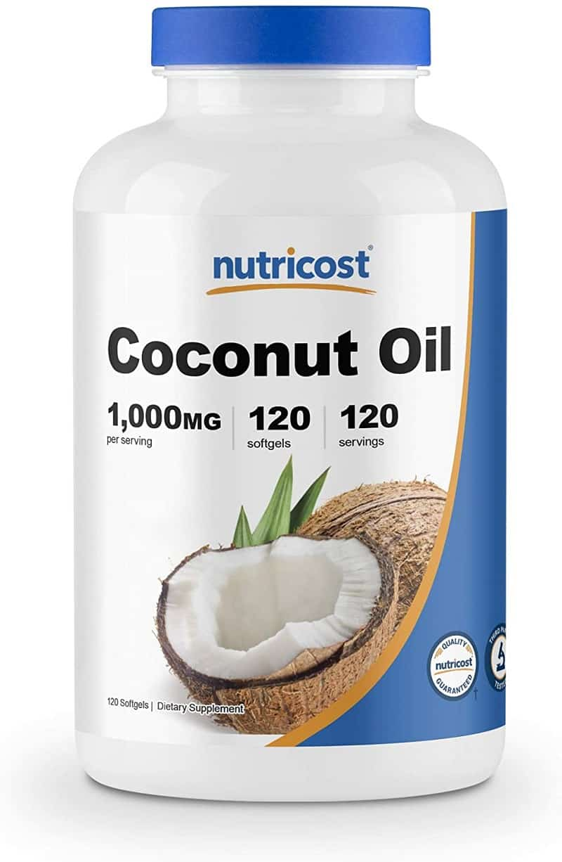 Nutricost Coconut Oil Softgels