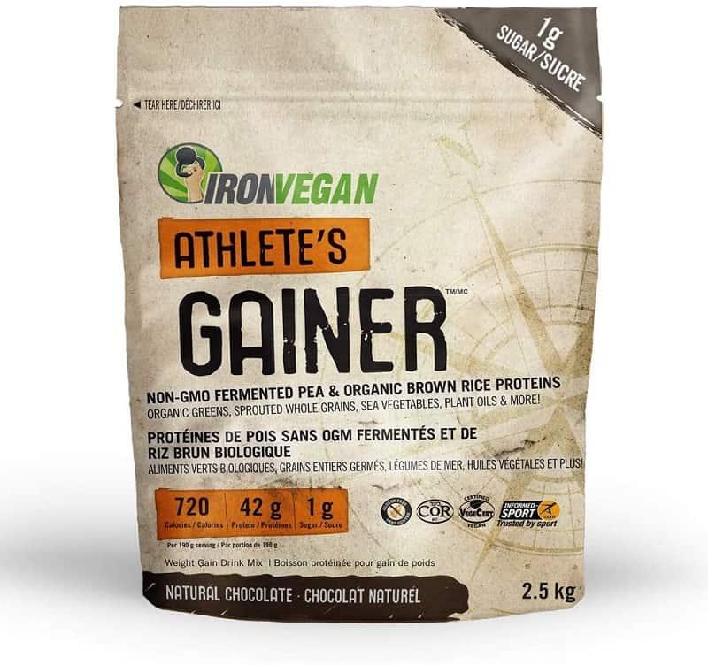IRONVEGAN Gainer Chocolate Protein Powder